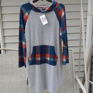 Sweet Claire Hoodie Dress/Tunic